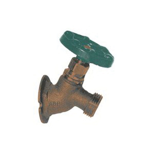 Picture of Arrowhead Brass 355BCLF Flange Sillcock, 1/2 x 3/4 in Connection, FIP x Hose, 8 to 9 gpm, 125 psi Pressure, Rough