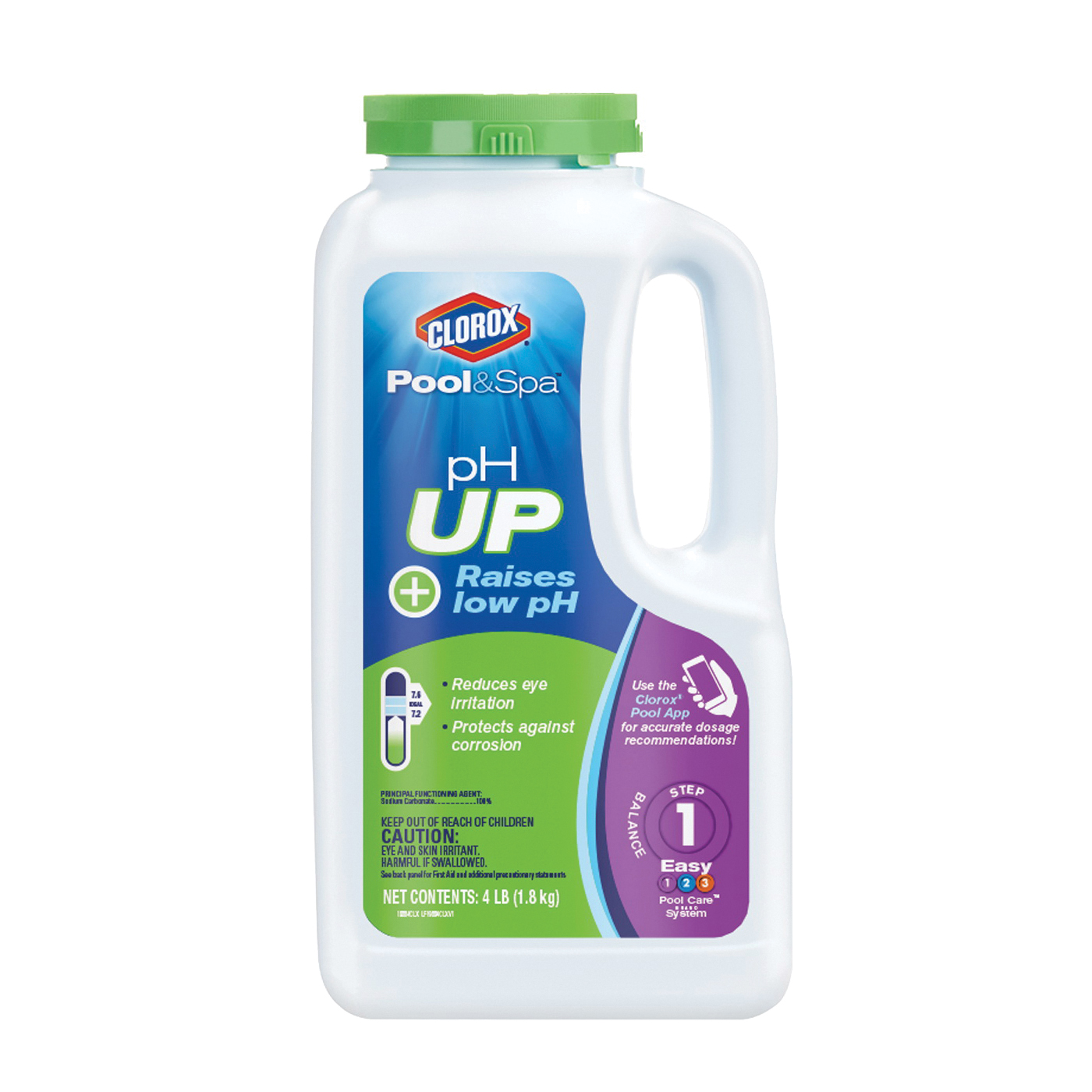 Picture of Clorox 12104CLX pH Up, Granular, White, 4 lb Package