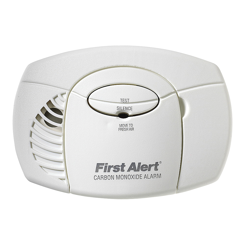 Picture of FIRST ALERT CO400 Carbon Monoxide Alarm, 10 ft, 85 dB, Alarm: Audible, Electrochemical Sensor, Wall Mounting