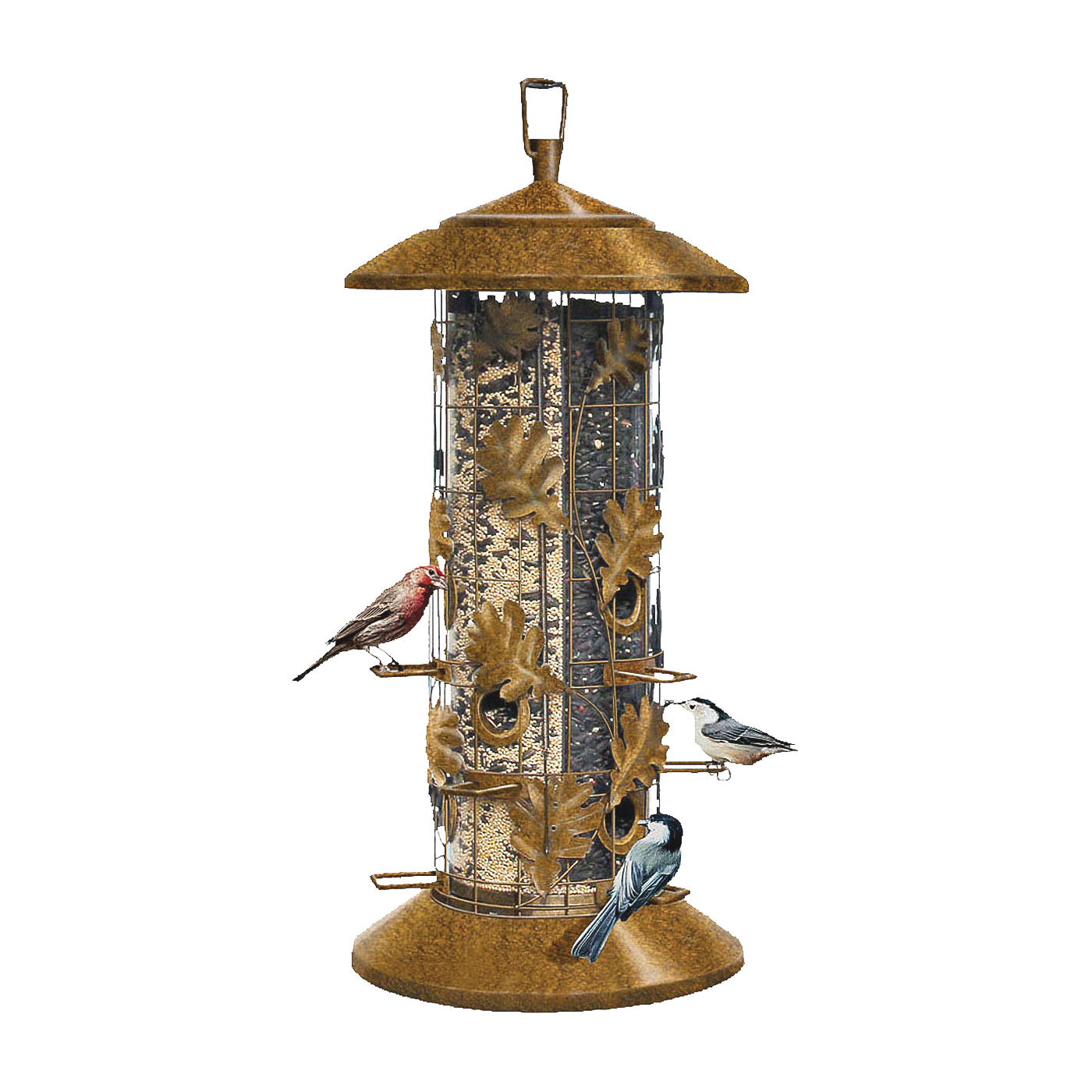 Picture of Perky-Pet 337 Wild Bird Feeder, Metal, Rustic Brown, Hanging Mounting