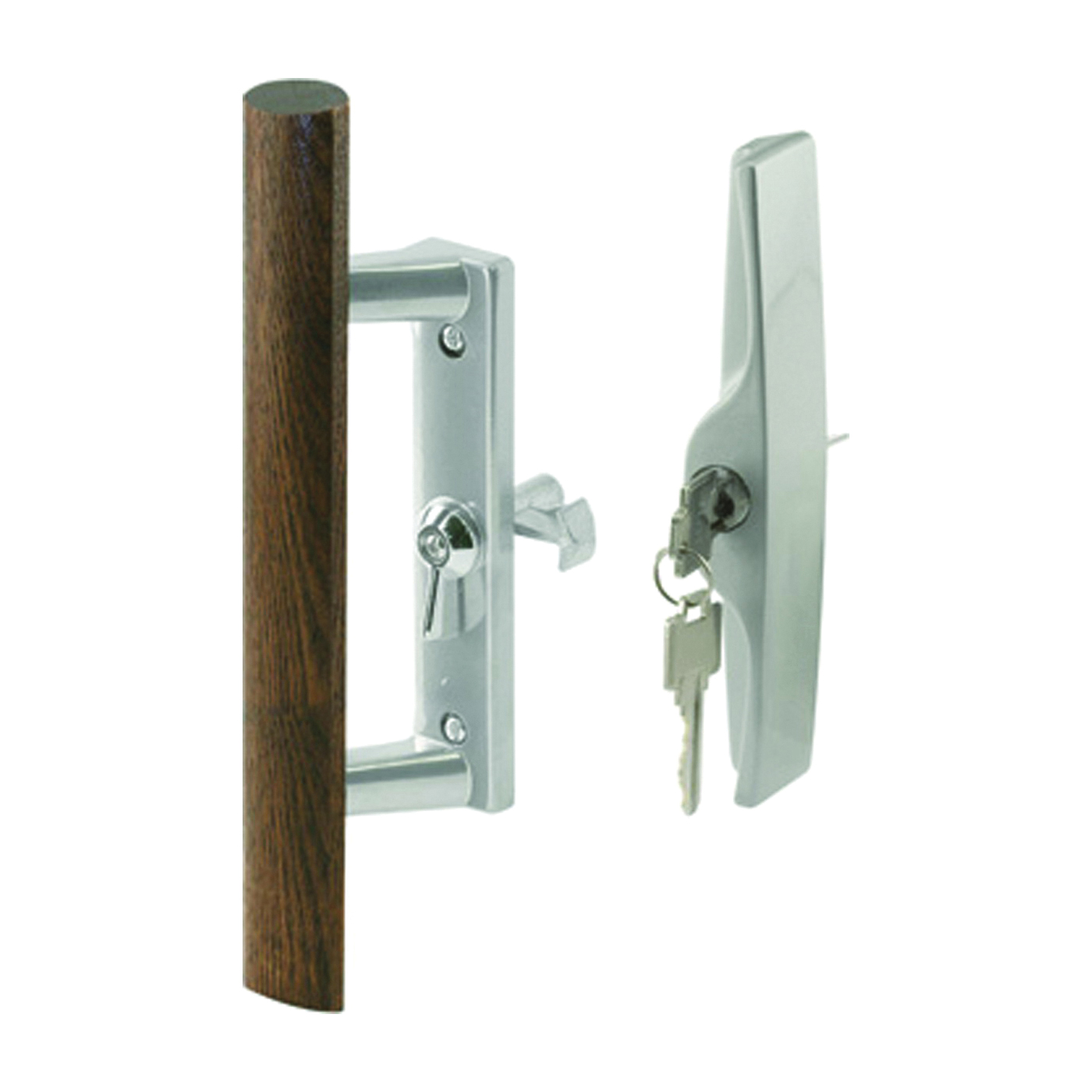 Picture of Prime-Line C 1064 Handle Set, Different Key, Aluminum, Aluminum, 1 in Thick Door