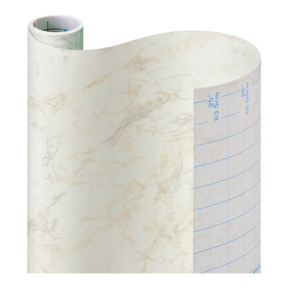 Picture of Con-Tact 09F-C9823-12 Multi-Purpose Contact Paper, 9 ft L, 18 in W, Paper, Beige Marble