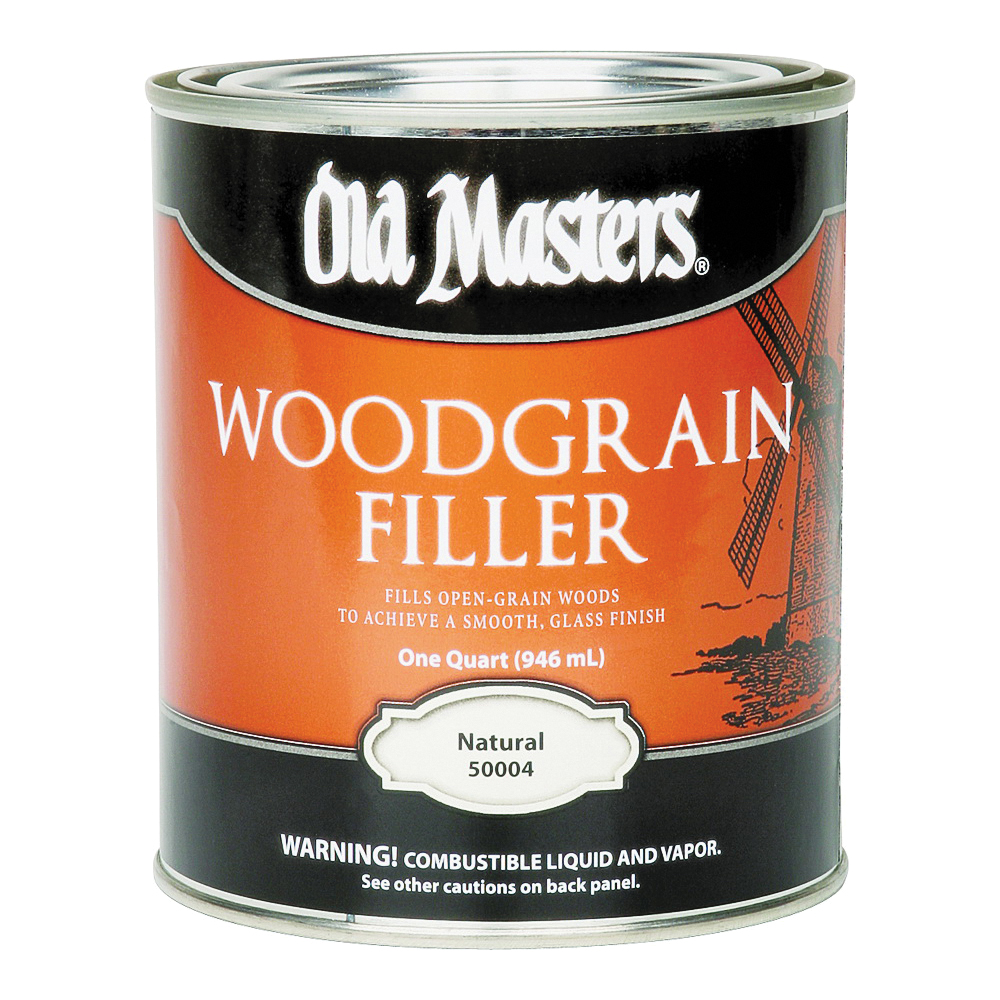 Picture of Old Masters 50004 Woodgrain Filler, Natural, Liquid, 1 qt, Can