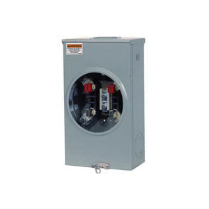 Picture of Siemens SUAT317-OPQG Meter Socket, 1-Phase, 200 A, 600 V, 4-Jaw, Overhead Feed Cable Entry, NEMA 3R Enclosure