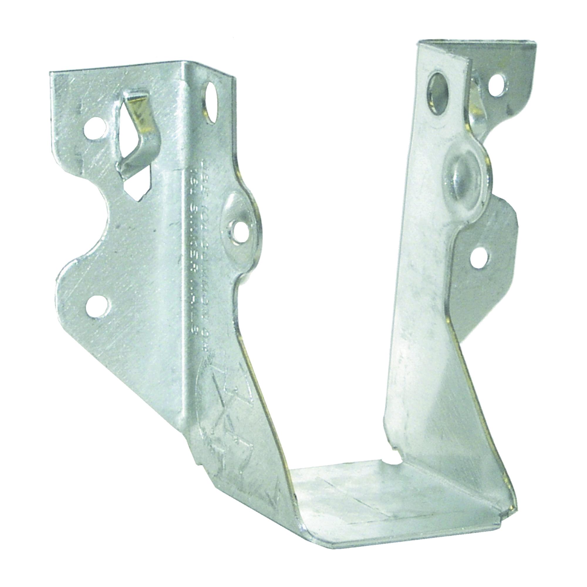 Picture of MiTek JUS24-TZ Slant Joist Hanger, 3-1/8 in H, 1-3/4 in D, 1-9/16 in W, 2 in x 4 in, Steel, Zinc, Face Mounting