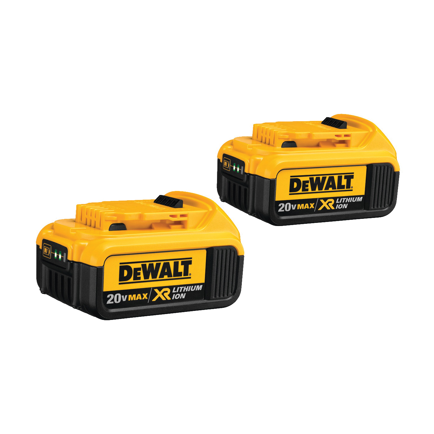 Picture of DeWALT Premium XR DCB204-2 Battery Pack, 20 V Battery, 4 Ah