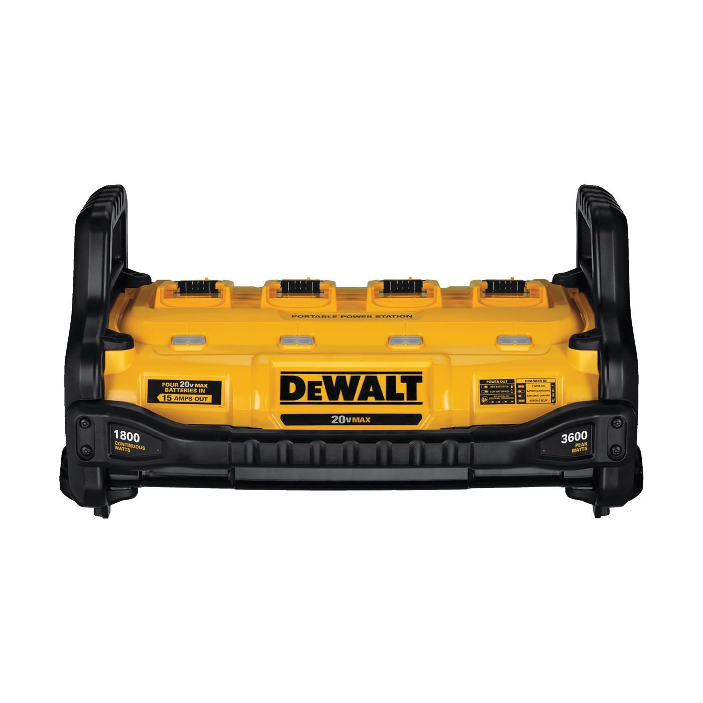 Picture of DeWALT DCB1800B Power Station and Simultaneous Battery Charge, 2 A Charge, 4 Ah, 2 hr Charge, 4 -Battery