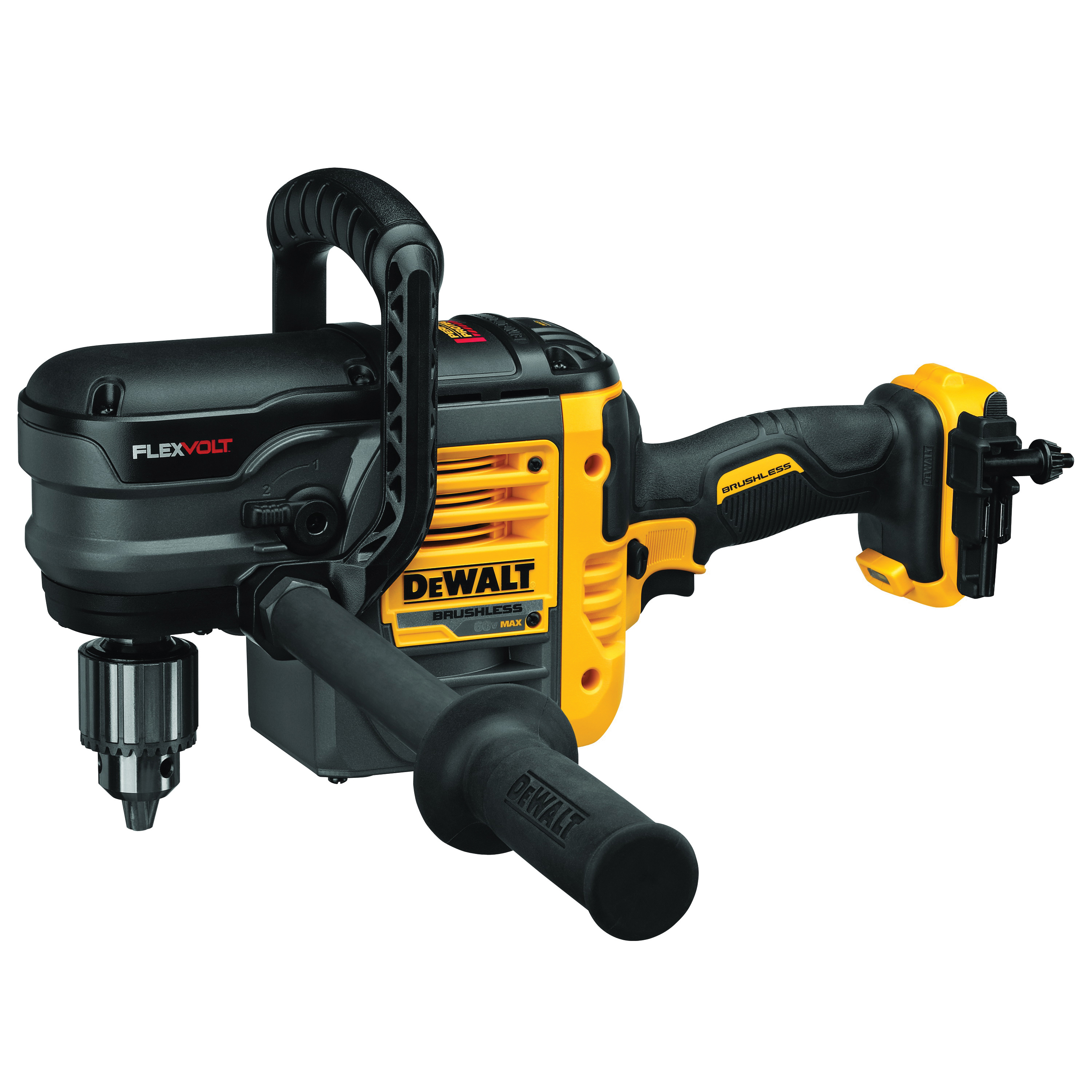 Picture of DeWALT DCD460B Stud and Joist Drill, Bare Tool, 60 V Battery, 1/2 in Chuck, Keyed Chuck, Battery Included: No