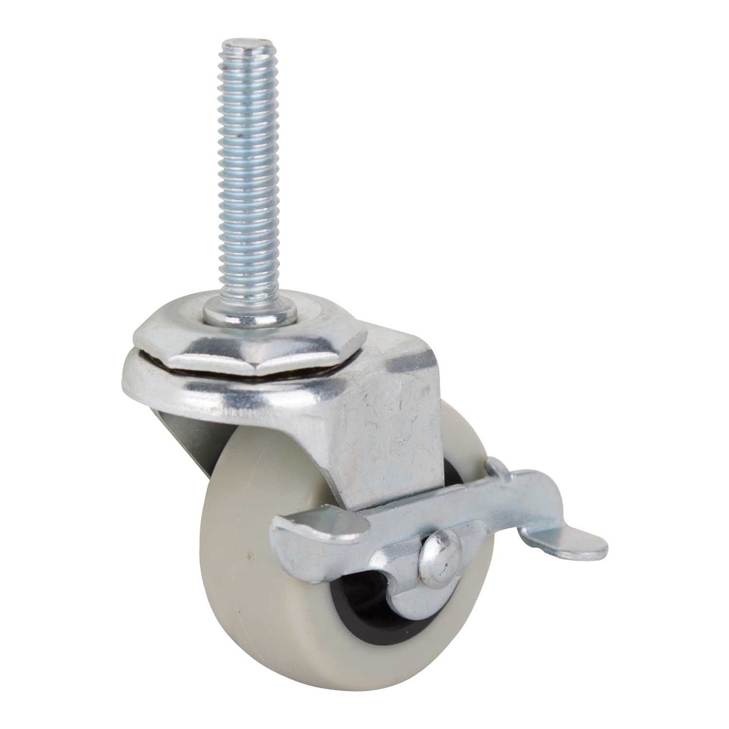 Picture of ProSource JC-N07-G Swivel Caster with Brake, 2 in Dia Wheel, Thermoplastic Rubber Wheel, Gray, 102 lb