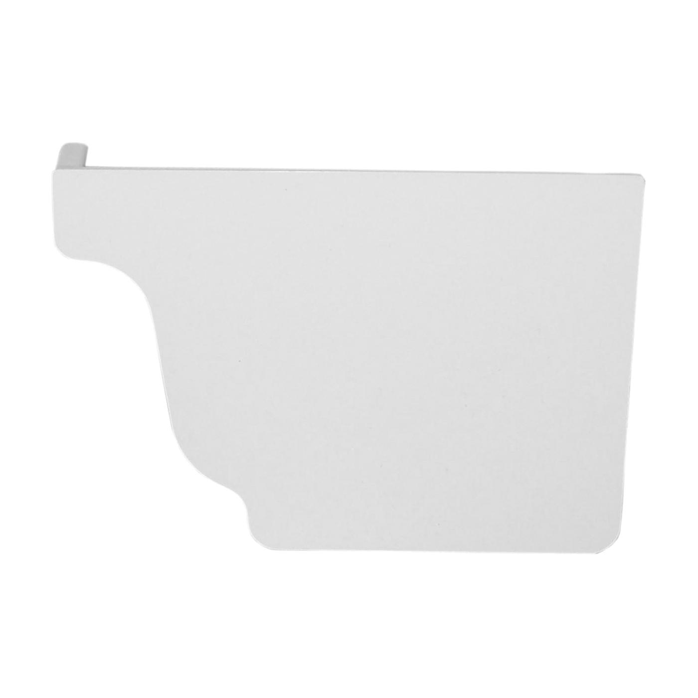 Picture of GENOVA AW101K Gutter End Cap, 3.6 in L, 1.1 in W, Vinyl, White, For: 5 in Repla K Gutter