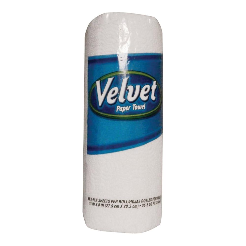 Picture of Velvet 098811 Paper Towel, 11 in L, 8 in W, 2 -Ply, 60