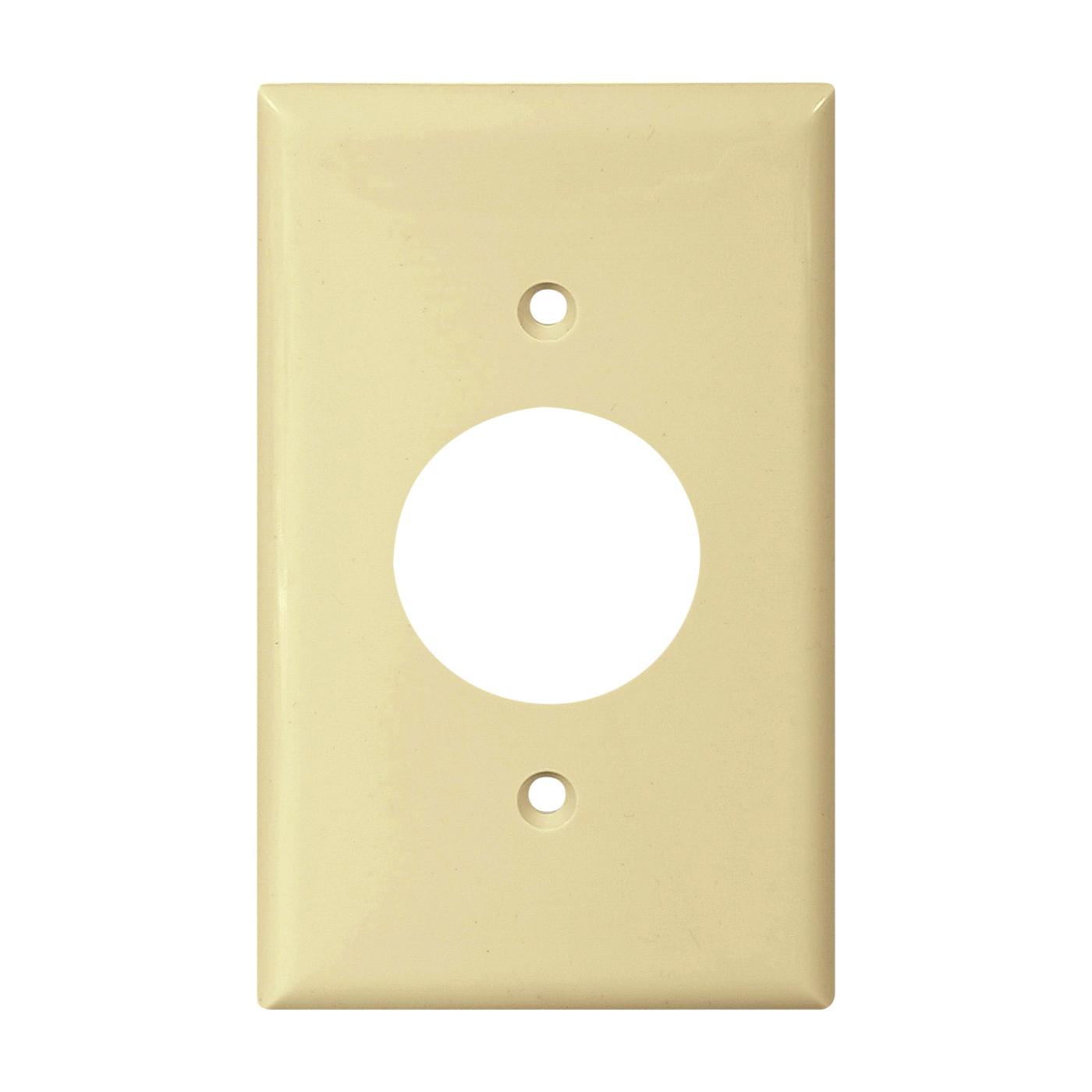 Picture of Eaton Wiring Devices 5131V-BOX Single Receptacle Wallplate, 4-1/2 in L, 2-3/4 in W, 1-Gang, Nylon, Ivory