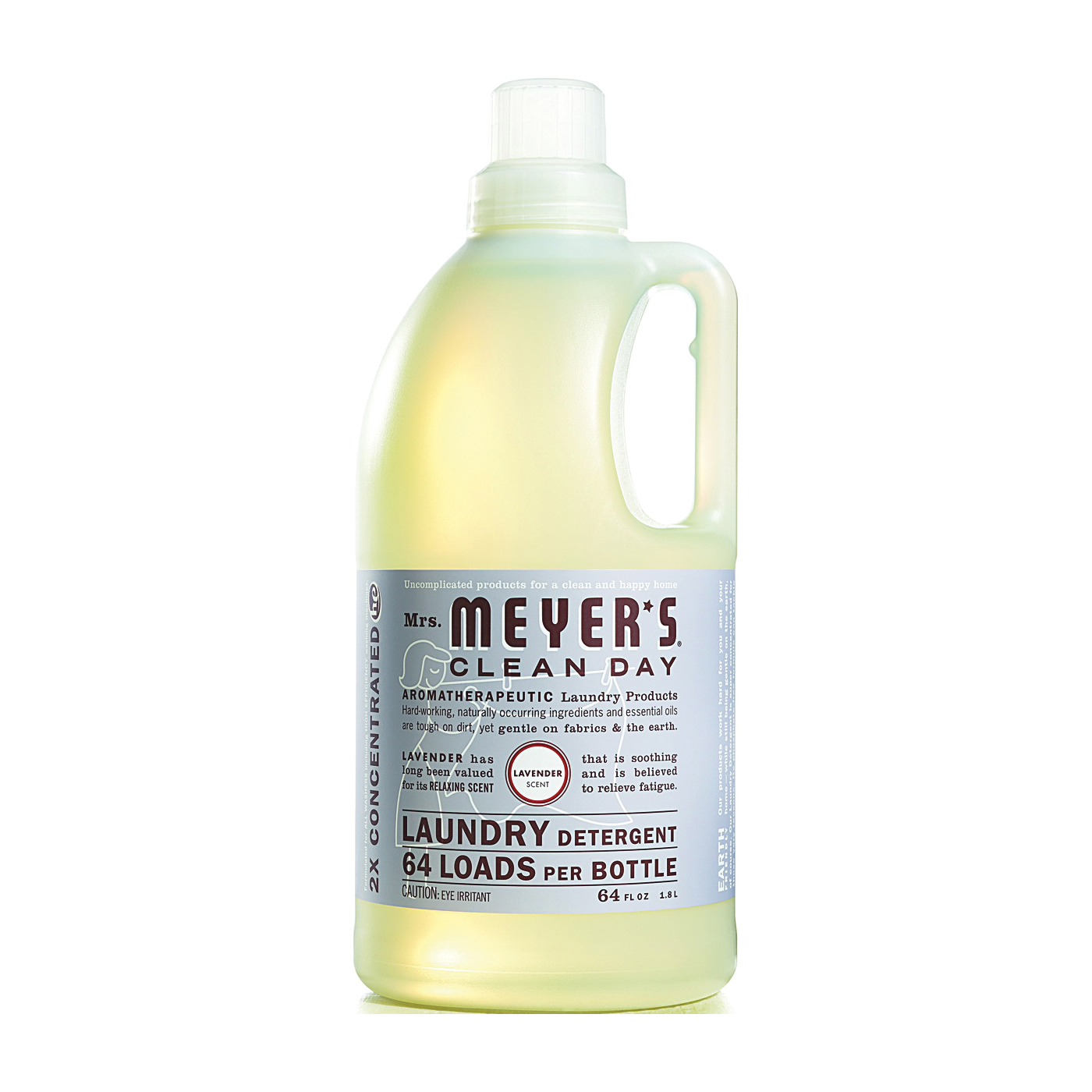 Picture of Mrs. Meyer's Clean Day 14531 Laundry Detergent, 64 oz, Bottle, Liquid, Lavender