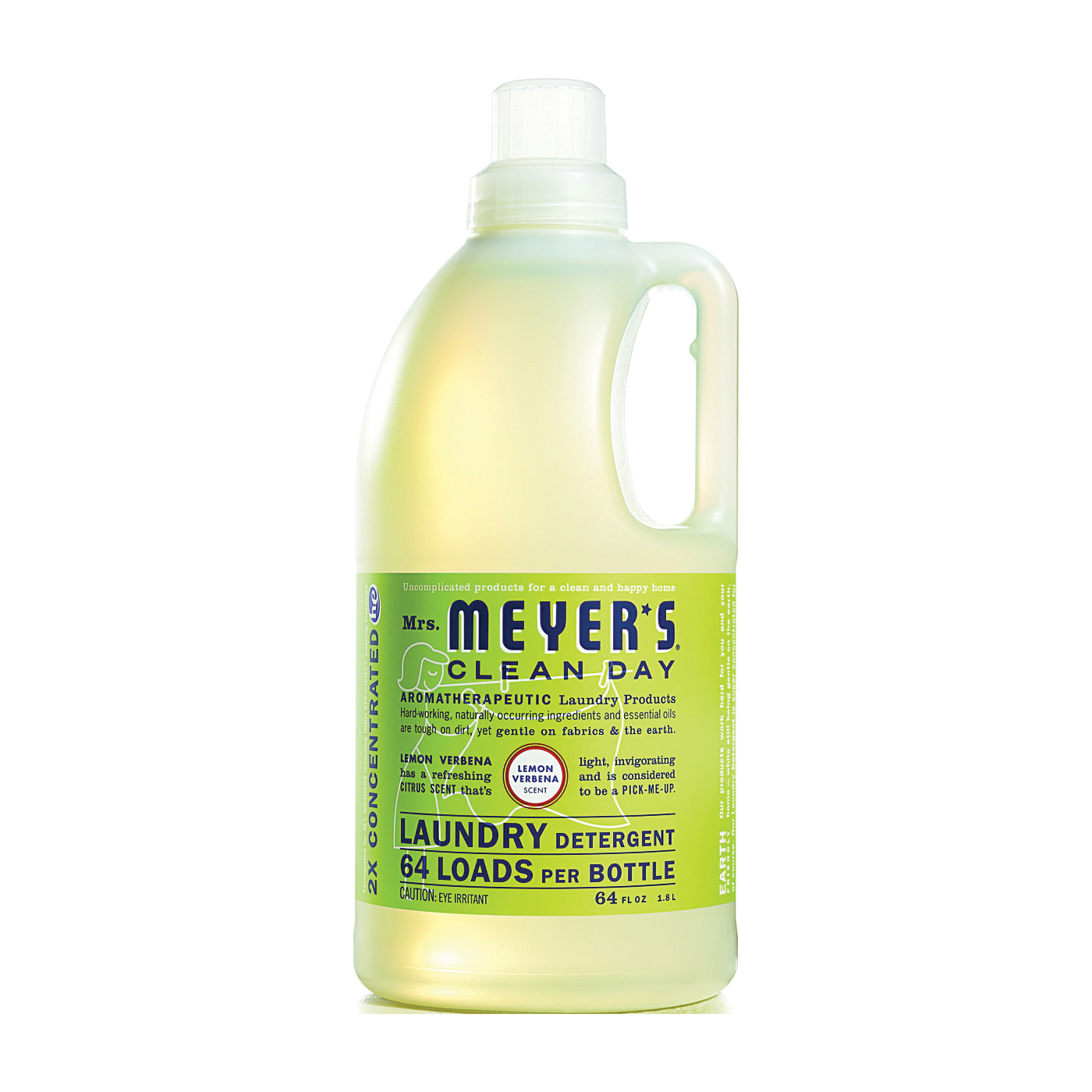Picture of Mrs. Meyer's Clean Day 14631 Laundry Detergent, 64 oz, Bottle, Liquid, Lemon Verbena