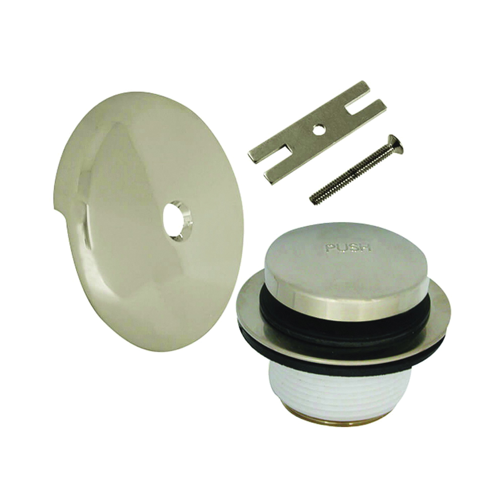 Picture of Danco 89237 Tub Drain Trim Kit, Metal, Brushed Nickel, For: 1-1/2 in and 1-3/8 in Drain Shoe Sizes