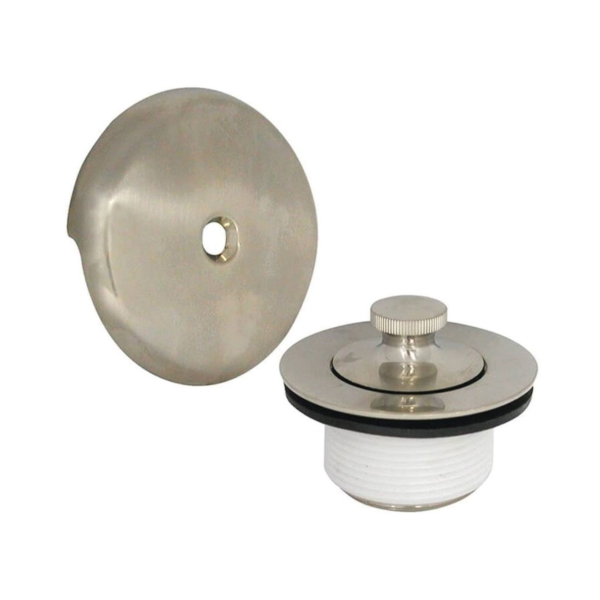 Picture of Danco 89239 Tub Drain Trim Kit, Brass, Brushed Nickel