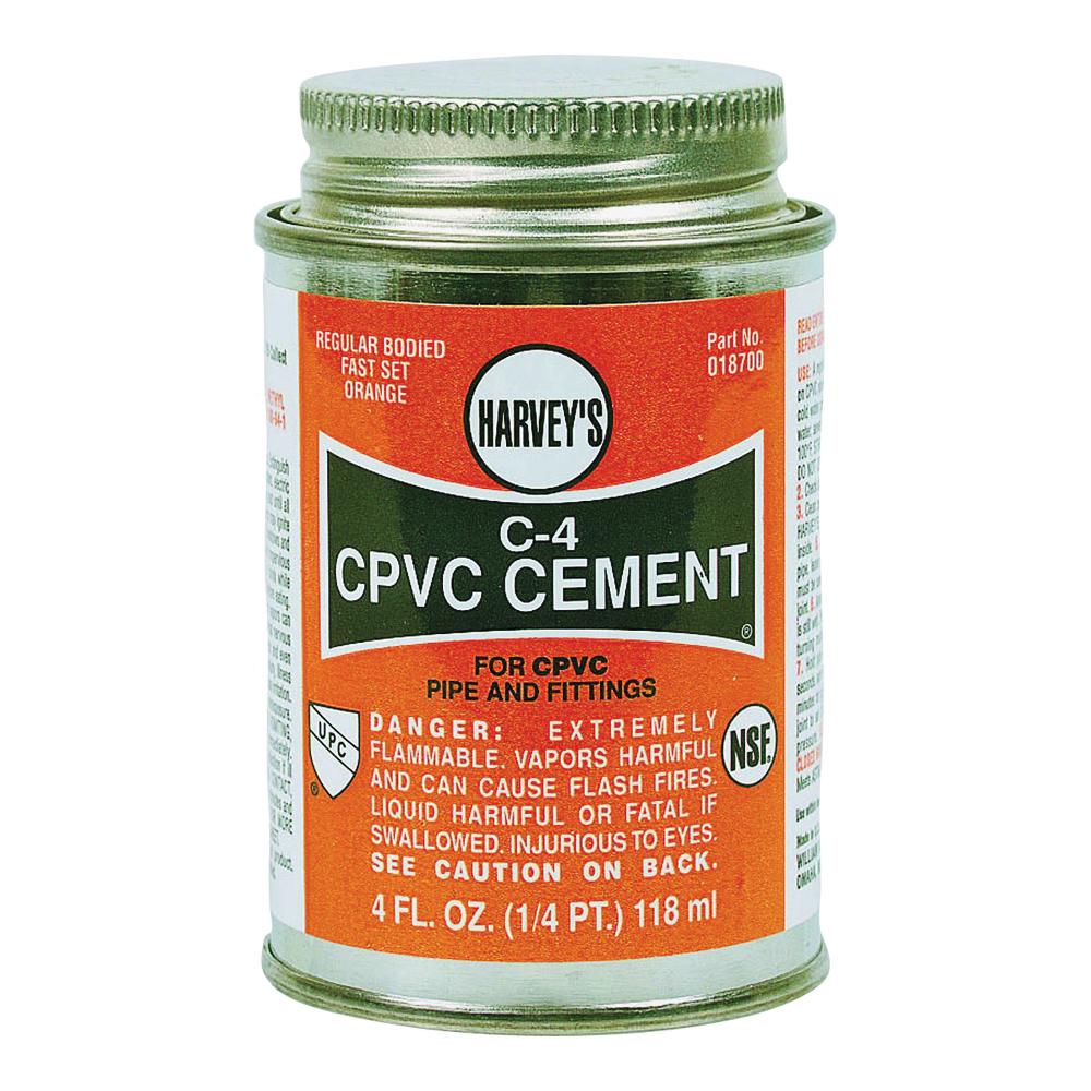 Picture of HARVEY 018720-12 Solvent Cement, 16 oz, Can, Liquid, Orange