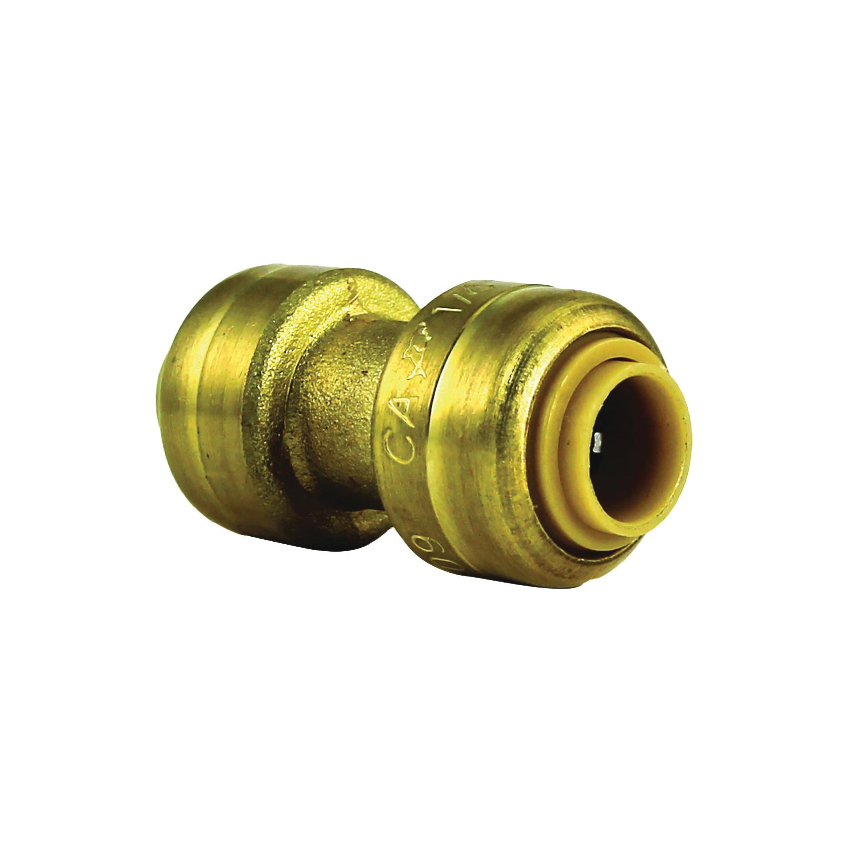 Picture of SharkBite U004LFA Tube Coupler, 1/4 in, Brass, 200 psi Pressure