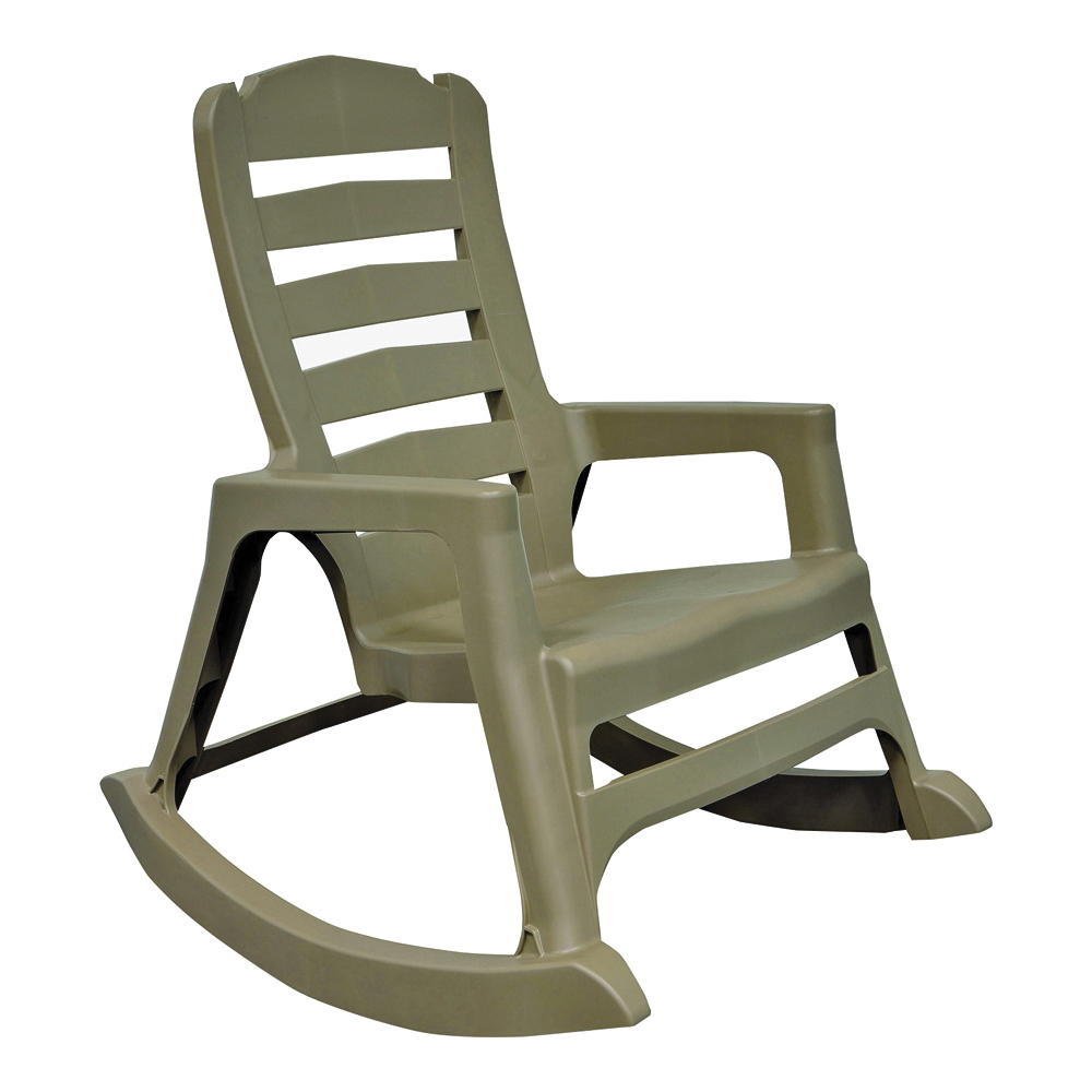 Picture of Adams Big Easy 8080-96-3700 Stacking Rocking Chair, 29.62 in OAW, 36.9 in OAD, 41.01 in OAH, Polypropylene