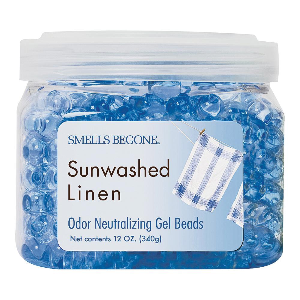 Picture of SMELLS BEGONE 52012 Odor Neutralizing Gel, 12 oz Package, Jar, Sunwashed Linen, 450 sq-ft Coverage Area