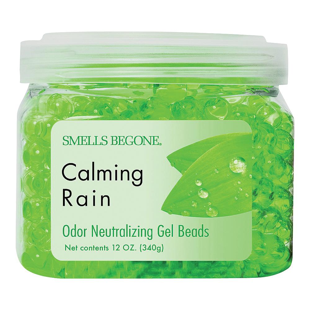 Picture of SMELLS BEGONE 52512 Odor Neutralizing Gel, 12 oz Package, Jar, Calming Rain, 450 sq-ft Coverage Area