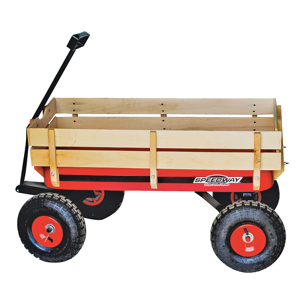 Picture of Speedway 52178 Wagon Toy, 200 lb, Steel, Red