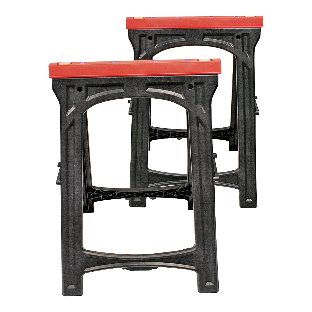 Picture of Professional Woodworker 52229 Folding Sawhorse, 500 lb, 16.14 in W, 33.07 in H, 23.03 in D, Plastic