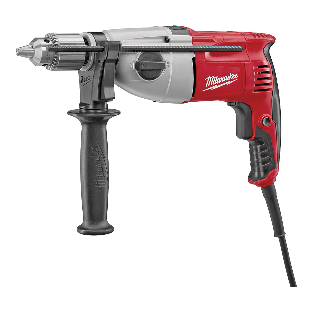 Picture of Milwaukee 5378-21 Hammer Drill Kit, 120 VAC, 7.5 A, 1/2 in Twist Bit, 3-3/4 in Hole Saw Bit Drilling, 1/2 in Chuck
