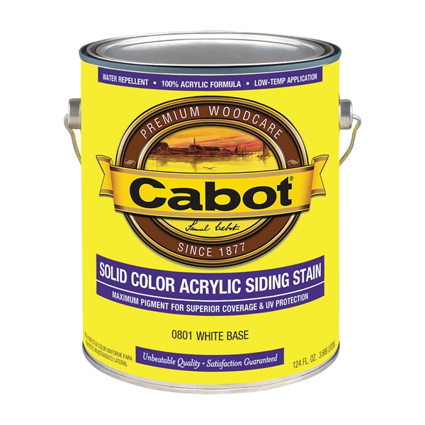 Picture of Cabot 800 Series 801-1GAL Solid Color Siding Stain, Natural Flat, Liquid, 1 gal, Can