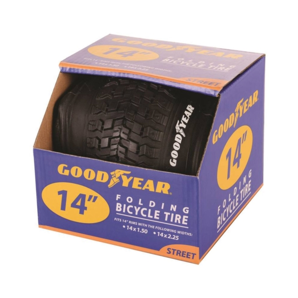 Picture of Kent 91051 Bike Tire, Folding, Black, For: 14-1/2 x 2-1/4 in Rim