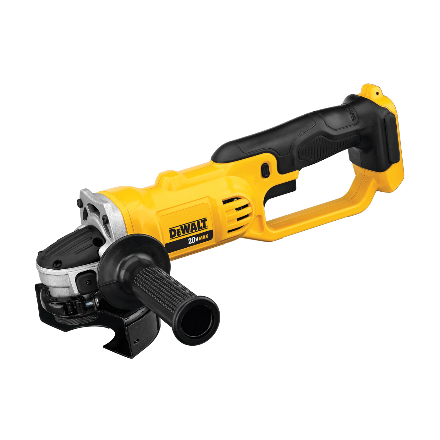 Picture of DeWALT DCG412B Angle Grinder, Bare Tool, 20 V Battery, 3 Ah, 5/8 in Spindle, 4-1/2 in Dia Wheel, 8000 rpm Speed