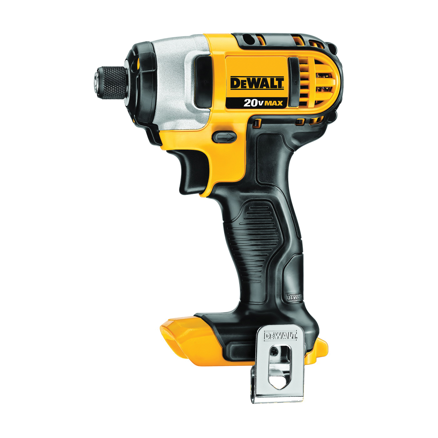 Picture of DeWALT DCF885B Impact Driver, Bare Tool, 20 V Battery, 3 Ah, 1/4 in Drive, Hex Drive, 3200 ipm IPM