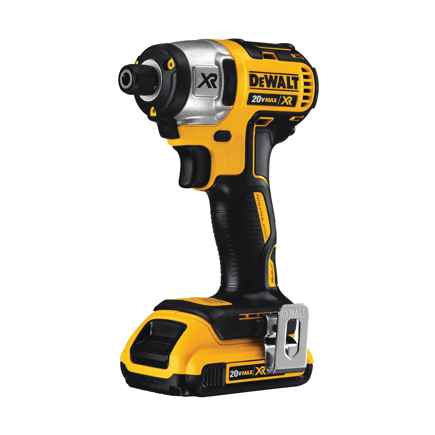 Picture of DeWALT DCF887D2 Impact Driver Kit, Kit, 20 V Battery, 2 Ah, 1/4 in Drive, Hex Drive, 3600 ipm IPM