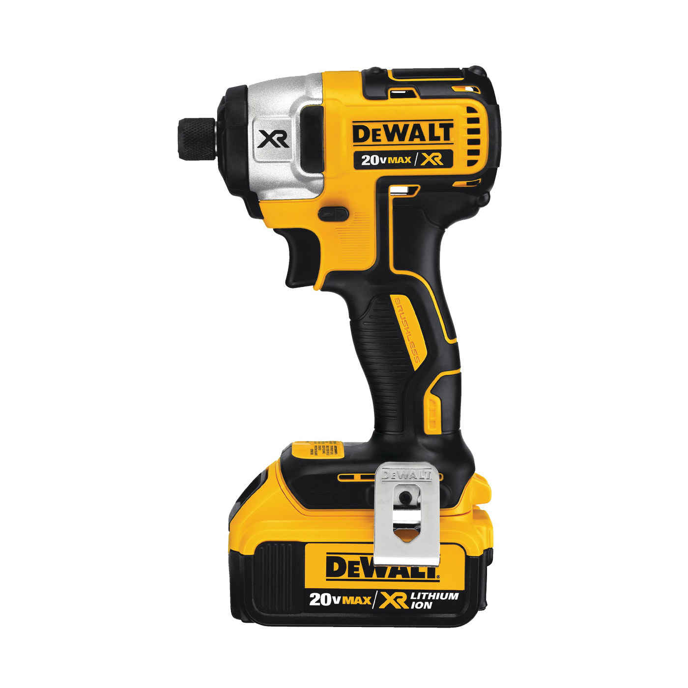 Picture of DeWALT DCF887M2/DCF886M2 Impact Driver Kit, Kit, 20 V Battery, 4 Ah, 1/4 in Drive, Hex Drive, 3600 ipm IPM