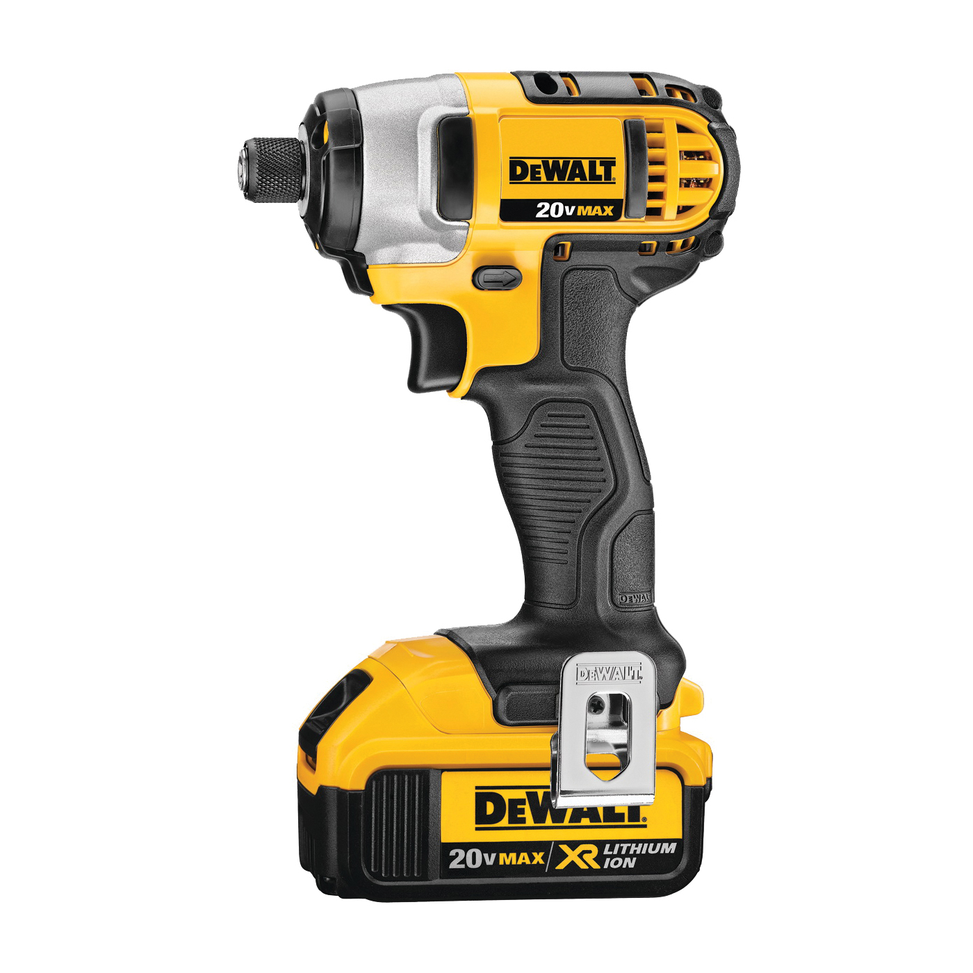Picture of DeWALT DCF885M2 Impact Driver Kit, Kit, 20 V Battery, 4 Ah, 1/4 in Drive, Hex Drive, 3200 ipm IPM, 2800 rpm Speed