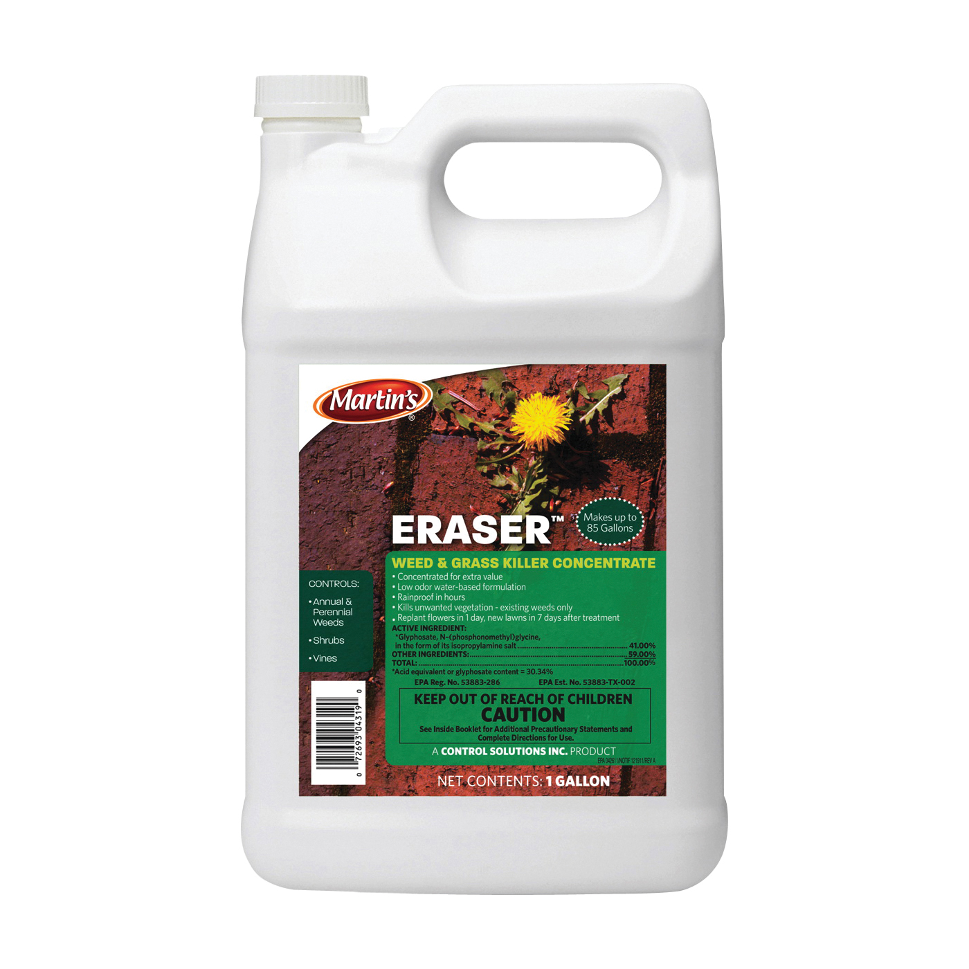 Picture of Martin's 82004319 Weed and Grass Killer, Liquid, Clear, 1 gal Package