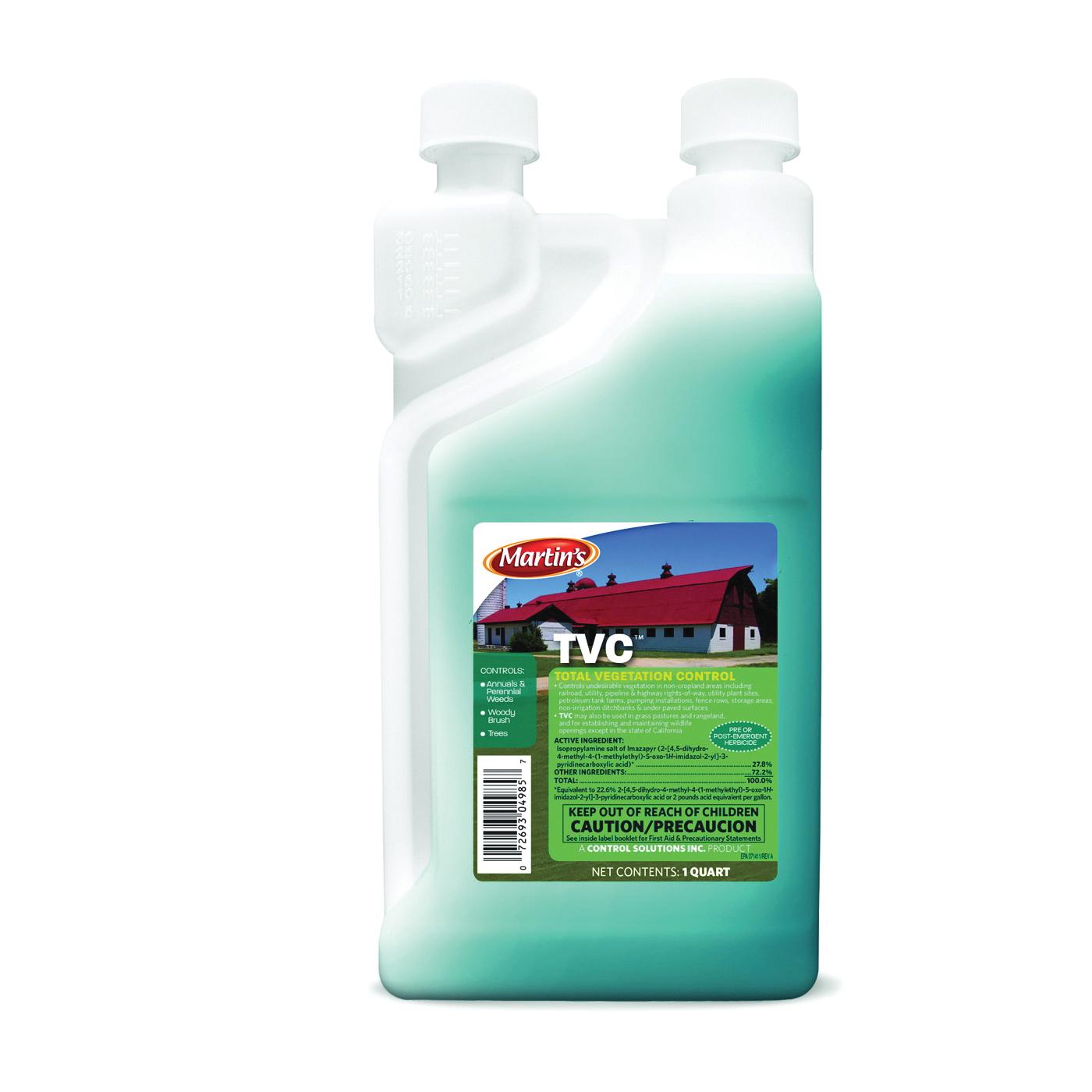 Picture of Martin's 82004985 Total Vegetation Control, Liquid, Light Amber, 1 qt Package, Bottle