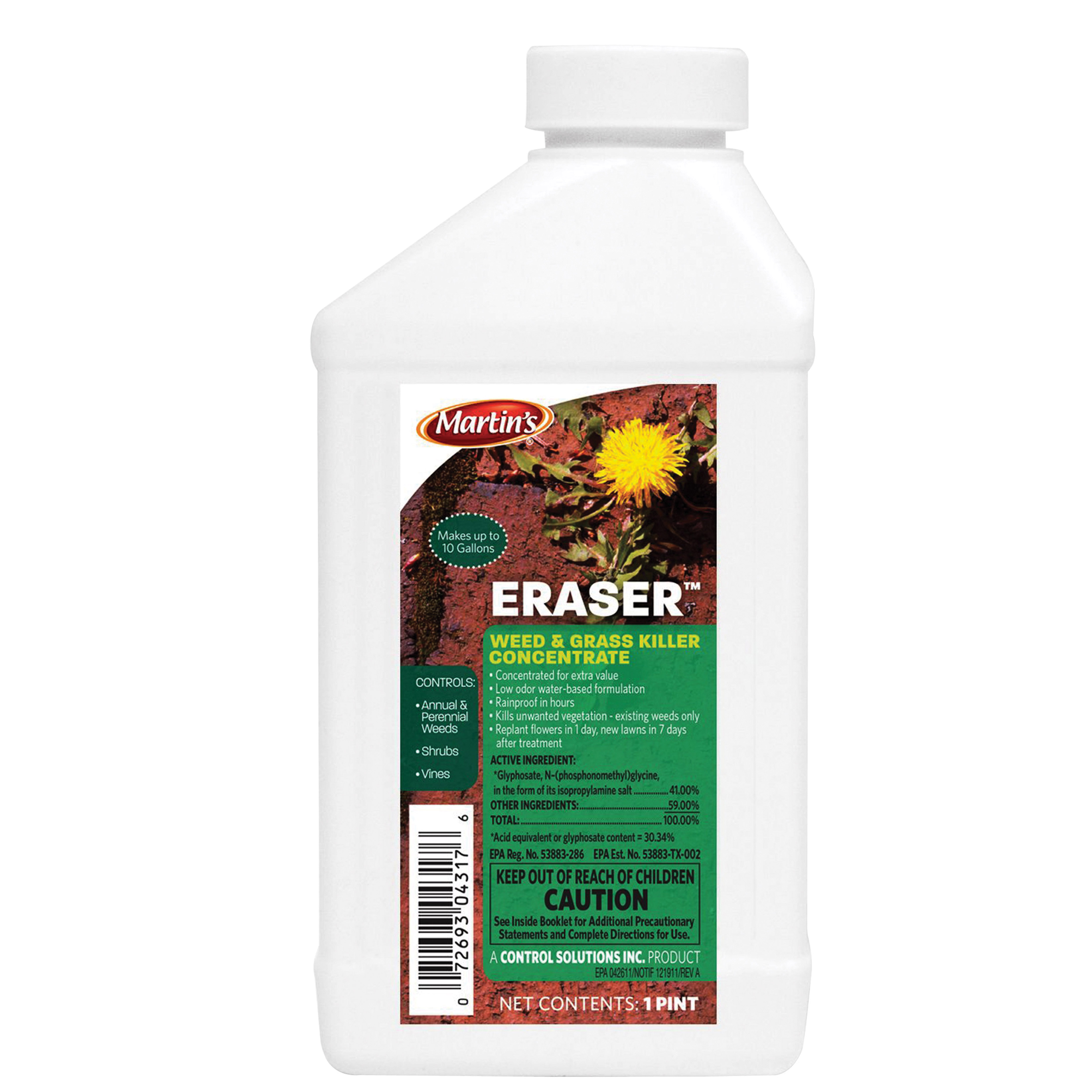 Picture of Martin's 82004317 Weed and Grass Killer, Liquid, Clear, 1 pt Package