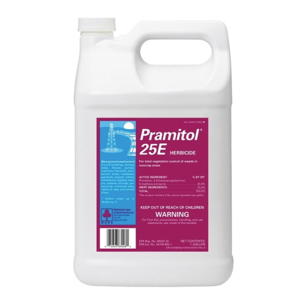 Picture of Martin's Pramitol 82000025 Herbicide Vegetation Killer, Liquid, Amber/Yellow, 1 gal Package
