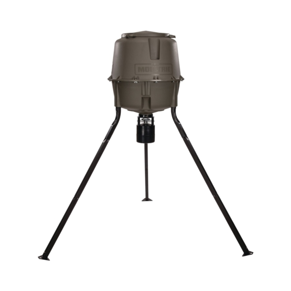 Picture of MOULTRIE MFG-13062 Tripod Deer Feeder, Battery, Metal/Plastic, Green