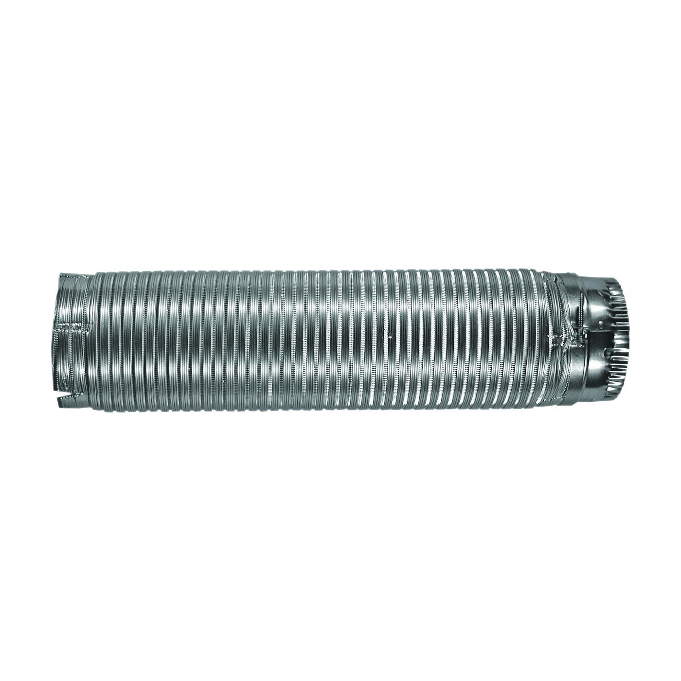 Picture of BUILDER'S BEST E-Z-Fasten 010150 Flexible Dryer Vent Pipe Male Snap-Lock, 5 ft L, Aluminum