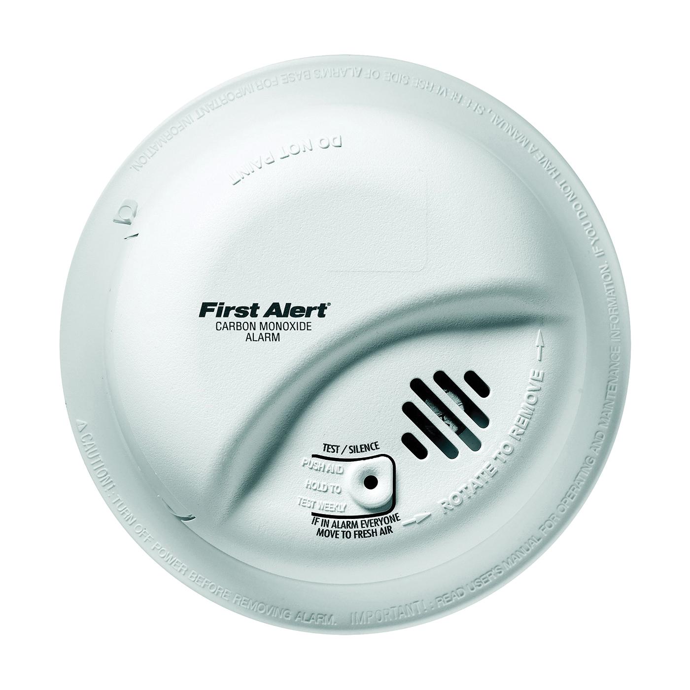 Picture of FIRST ALERT CO5120BN Carbon Monoxide Alarm, 10 ft, 85 dB, Alarm: Audible, Electrochemical Sensor