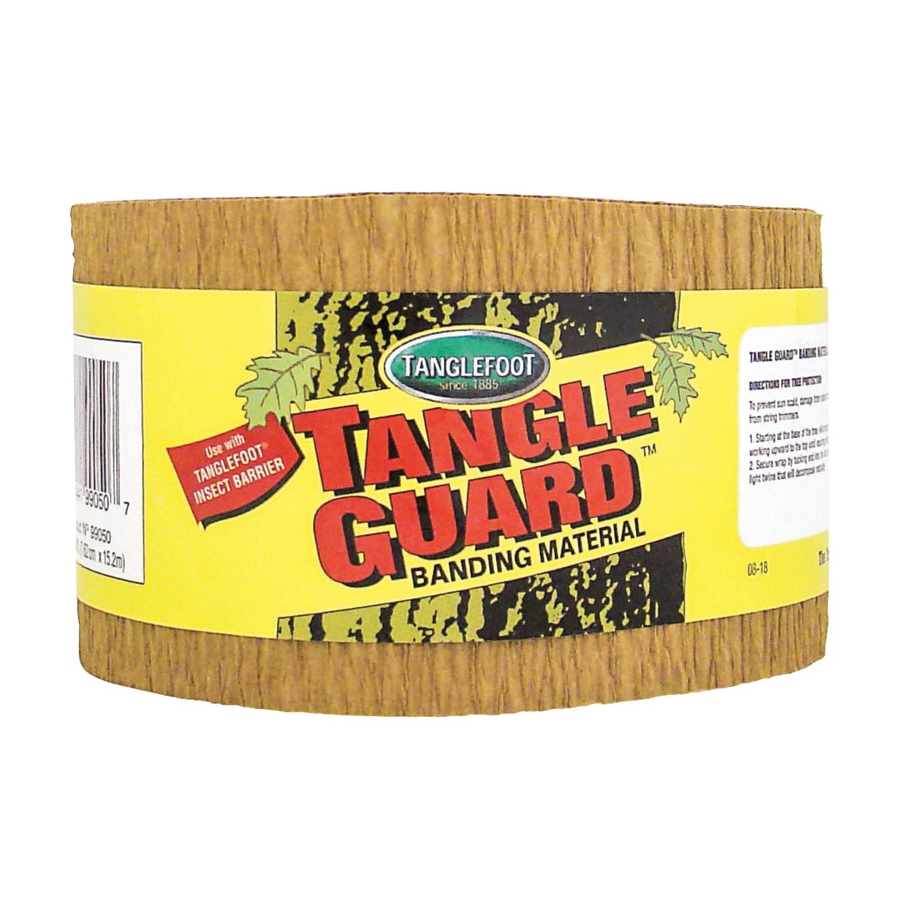 Picture of Tanglefoot 9990292 Tree Wrap Sleeve, 50 ft L, 3 in W, Brown, Sleeve