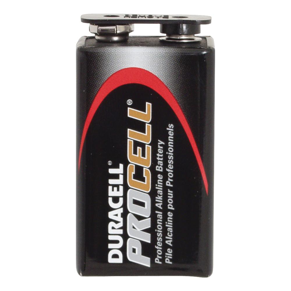 Picture of DURACELL PROCELL PC1604BKD Alkaline Battery, 9 V Battery, 550 mAh, 9 V Battery, Manganese Dioxide, 12/PK