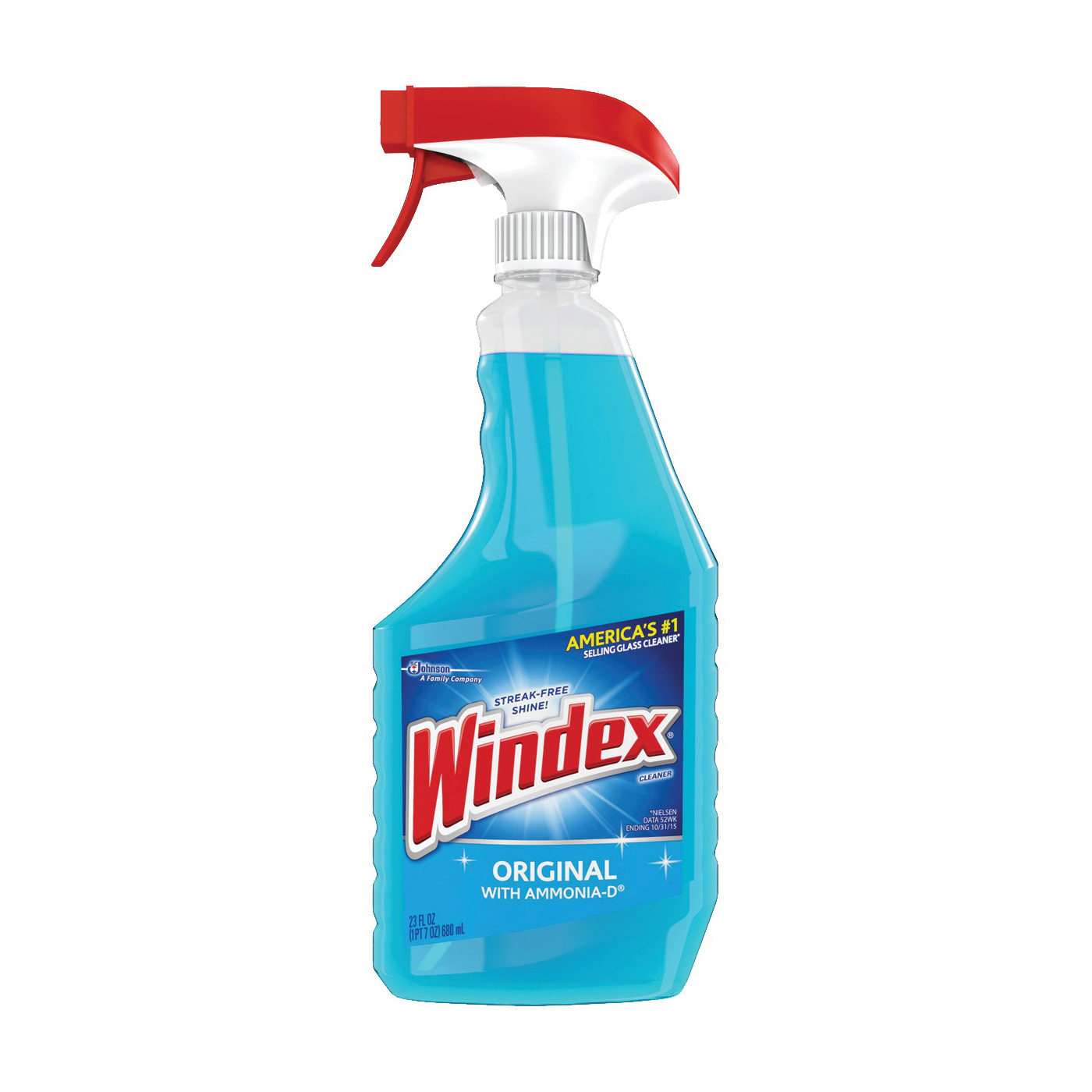 Picture of Windex 70195/70343 Glass Cleaner, 23 oz Package, Bottle, Liquid, Floral, Blue