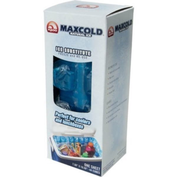 Picture of IGLOO Maxcold 25078 Reusable Ice Sheet, 44 Cube, Box, Blue