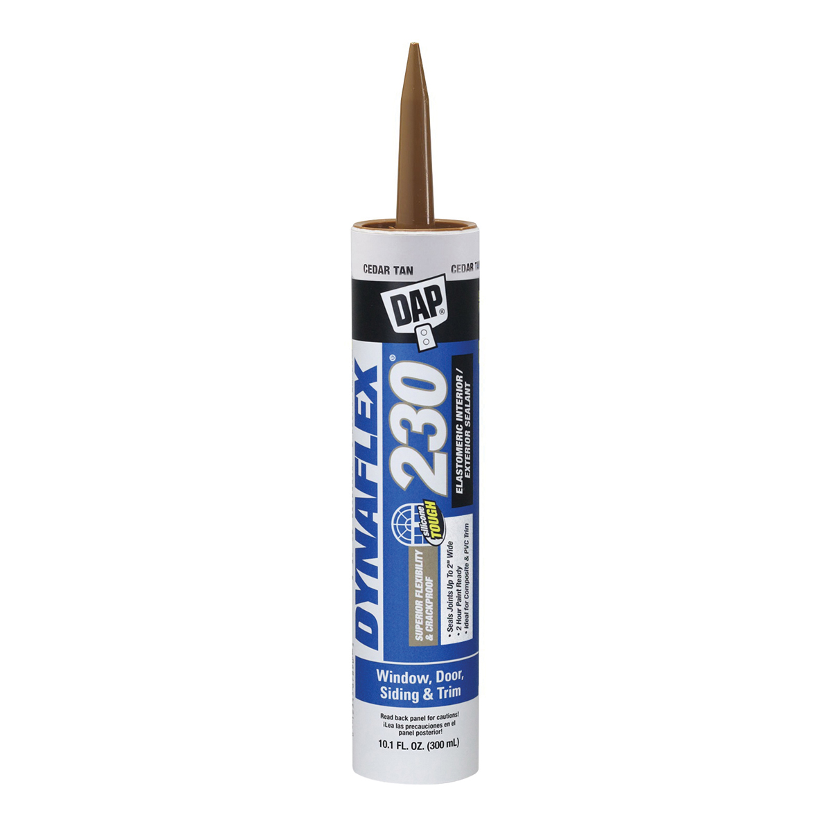 Picture of DAP 18304 Premium Sealant, Clear, 1 day Curing, 40 to 100 deg F, 10.1 oz Package, Cartridge
