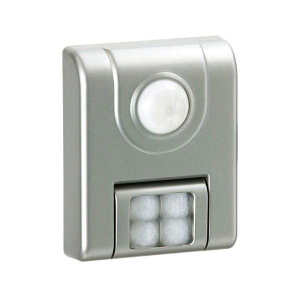 Picture of Fulcrum 20043-301 Sensor Light, 100 W, AAA Battery, 4-Lamp, LED Lamp, 24 Lumens, Silver