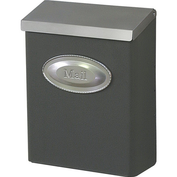 Picture of Gibraltar Mailboxes Designer DVKPBZ00 Mailbox, 440 cu-in Capacity, Galvanized Steel, Powder-Coated, Venetian Bronze