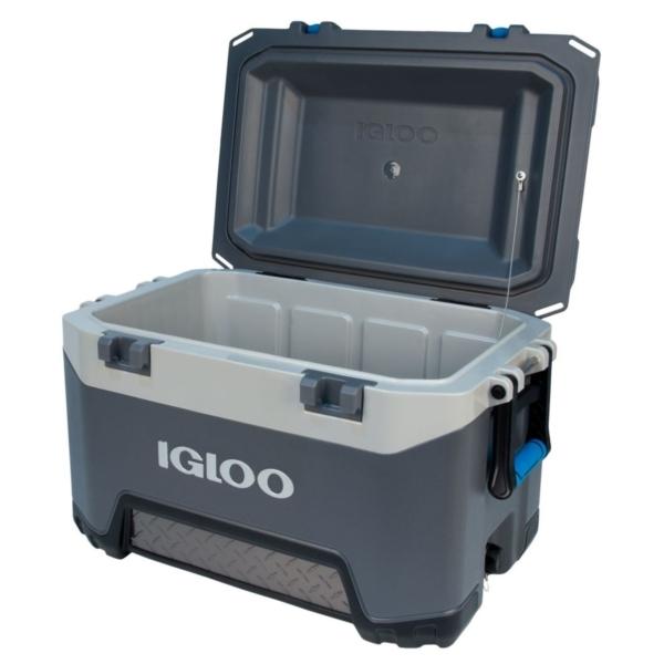 Picture of IGLOO BMX 00049783 Cooler, Plastic, Carbonite Blue/Carbonite Gray, 5 days Ice Retention